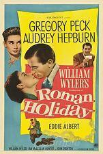 Vintage Romano Vacaciones Audrey Hepburn Película Poster A2 impresión