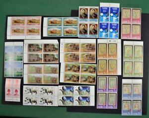 THAILAND STAMPS 17 BLOCKS OF 4  U/M    (R188)