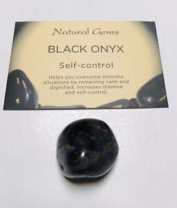 1  Black Onyx gemstone  with free organza bag and crystal card