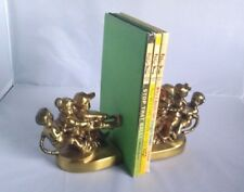 PM Craftsman TUG OF WAR BOOKENDS Kids Dog Play Rope Brass Book Ends USA Made