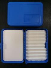 Plastic Tackle Box Fly Fishing/Ice Fishing with Foam Inserts