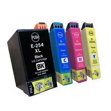 4x Compatible Ink Cartridges 254-XL 252-XL for Workforce WF7720 WF7620 WF7725
