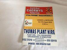 Caerwys v Nefyn United FAW  Welsh Trophy August 2019