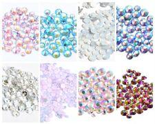100 / 800 Strasssteine Mix Kristalle Steine Strass Glitzer Glas Nail SS4-SS12
