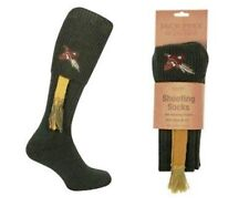 Embroidered Pheasant Shooting Knee Length Sock Size 8-11 with matching garter