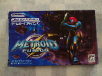 Metroid Fusion Nintendo Game Boy Advance GBA Box and Manual from JP Game Soft