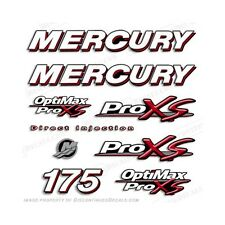 Mercury 175hp Optimax ProXs Outboard Engine Decals Pro XS Reproductions in Stock
