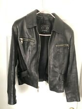 Womens XS Tannery West black leather sexy jacket  motorcycle