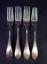 - 4 -  Silber Gabeln  - 13 Lot Silber Braun -  19 Jhd  - 230gr