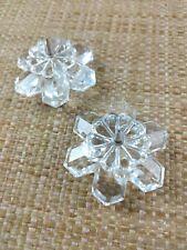Pair Swarovski Snowflake Candle holder #7600Nr101 Crystal Spike Pin