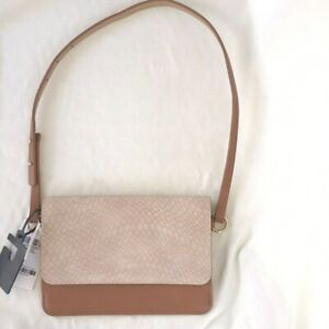 INC International Concepts Belted Bag Fanny Pack Smooth and Python Blush Size S