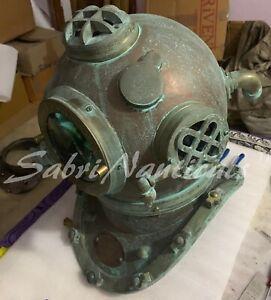 Copper Antique Morse Scuba Diving Helmet Brass Boston Divers Deep Sea SCA Helmet