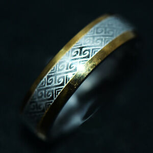 Vintage Mens Womens Band Ring Stainless Steel Rings Jewelry Rings Jewelry Size 8