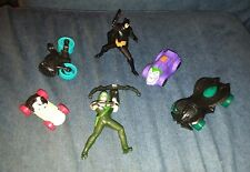 dc comics batman 6 toys lot green arrow joker two face batmobile mcdonalds set