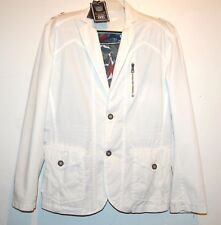 Xios Men's Off White Green Lining Jacket Cotton Size 2XL NEW