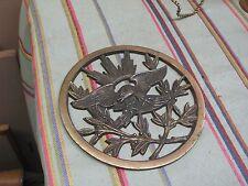 "Vintage Cast  Brass Mixed Metals Eagle wall Plaque 6"""