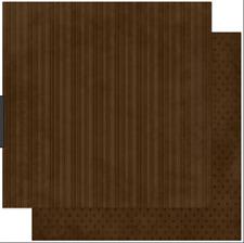 BoBunny 12x12 papel scrapbooking Doble Dot, café Raya X 2 Hojas