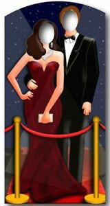 RED CARPET STAND IN - 1.86m Party Cardboard Cutout Decoration