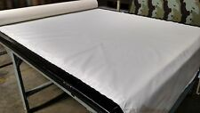 "Off White Bimini Top Boat Cover UV Outdoor Coated Marine Canvas Fabric DWR 60""W"