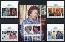 Grenada Grenadinen 1991 Königin Elisabeth QE II 65. Geburtstag 1452-55 Block 225