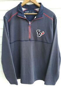 Houston Texans 1/4 Zip Antigua Mens Long Sleeve Shirt Men's Large NFL Never Worn