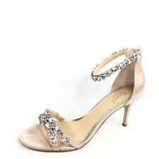 Jewel Badgley Mischka Caroline Womens Size 9.5 M Champagne Ankle Strap Sandals