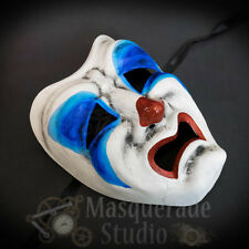 Horror Creepy Sad Crying Tragedy Clown Face Costume Halloween Masquerade Mask