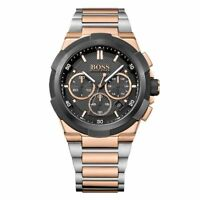 Hugo Boss HB 1513358 Supernova Chronograph Silver & Rose Gold Men's Wrist Watch