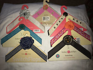 7 Switch Flops by Lindsay Phillips - M Interchangeable Straps - Multi Color Lot