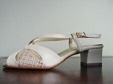 Lotus Camini Ivory Leather Slingback Shoe Size UK4 EU 36.5 D fitting  2 in Heel