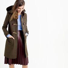 J Crew Wool Melton Toggle Coat Green Size 6