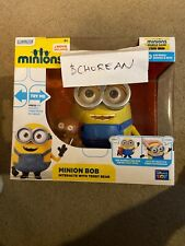 Minions Minion Bob Interacts with Teddy Bear Talking Interactive Figure Toy New