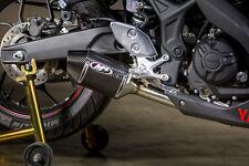 M4 Exhaust Yamaha R3 2015 16 17 18 Street Slayer Carbon Fiber Slip On