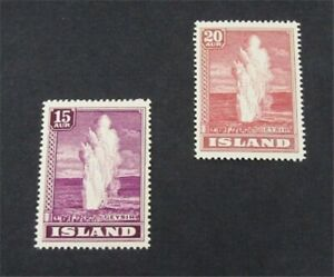 nystamps Iceland Stamp # 203.204 Mint OG H/NH $43   A16y406