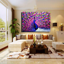 CHENPAT378 beautiful feather bird peacock art hand-painted oil painting canvas