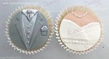 Karen Davies Cup cake top sugarcraft mould Bride and Groom Set Next Day Despatch