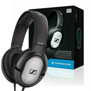 Sennheiser HD 206 Stereo WIRED Headphones Over Ear Earphones Black Silver NEW