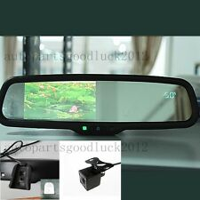 "Normal car mirror+4.3""LCD+compass+temp+camera,fit Ford Toyota Nissan Honda Dodge"