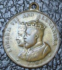 1902 CORONATION OF EDWARD VII & ALEXANDRA MEDAL - Nice