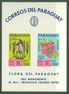 Paraguay A05 MNH       s/s Flora Flowers