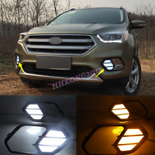 LED Daytime Running Light Front Fog Light 2 Color For Ford Escape 2017-2019