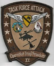 US ARMY 1-227TH AVN REGT PATCH -   'TASK FORCE ATTACK'    'OIF II'        DESERT