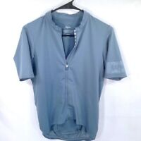 Rapha Men Medium Full Zip Cycling Short Sleeve Jersey Pro Team Mid Weight Blue