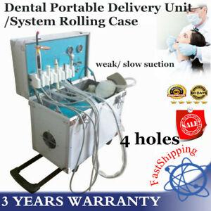 Dental Portable Dental Unit Metal Mobile box 4Holes Weak Suction 220V