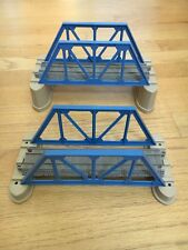 TRACKMASTER Thomas and Friends - TWO SET of BLUE BRIDGES & RISERS