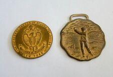 Round Medallions Gold Tone Souvenir