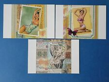 Set of 3 Fine Art Quality Postcards, Retro Pin Up Girls FO0
