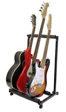 Hot! 3 Triple Multiple Guitar Bass Stand Holder Folding Triple Guitar Rack