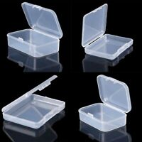 5 PCS Clear Plastic Storage Box Playing Cards Case Business Card Holder Card Box