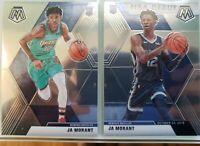 (2) 2019-20 Panini Mosaic JA MORANT BASE Rookie RC & NBA Debut Card Lot